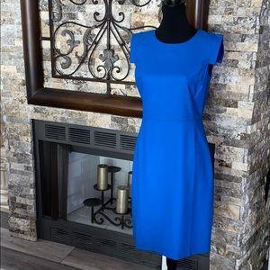 JCrew Royal Blue Wool blend Sheath Dress - Sz 6